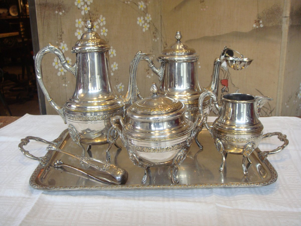 Silver Metal Tea Service