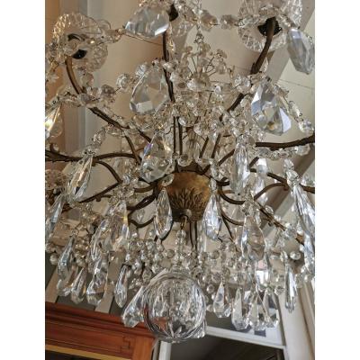 Lustre Cristal 12 Dras De Lumières