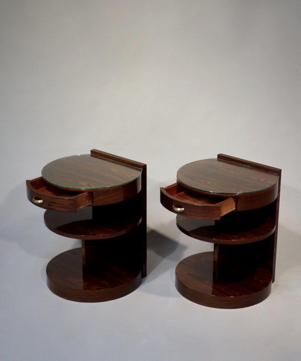 Paire De Table De Chevets Art Déco De Michel Dufet