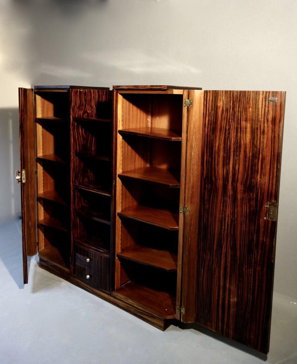 Bibliothèque Art Déco Signée Desbordes-photo-5