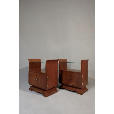 Pair Of Art Deco Bedside