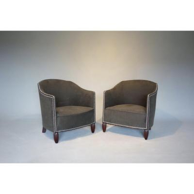 Armchairs Art Deco ( Pair )