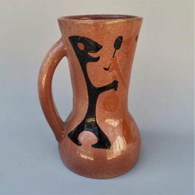 René Ben Lisa (1926-1995) Ceramic Pitcher