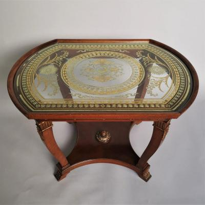 Empire Style Mahogany Living Room Table