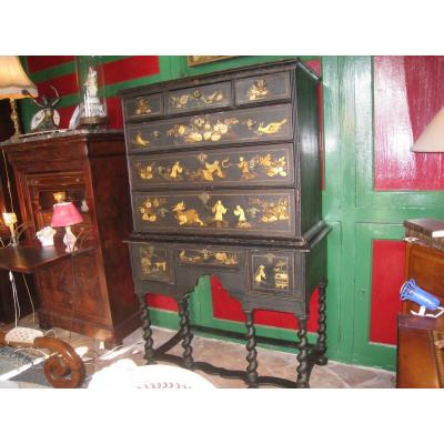 In Chinese Lacquer Cabinet Decor