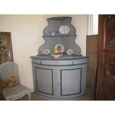 Large Corner Wooden Painted