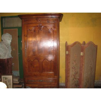 Bonnetiere Louis XV Cabinet In Cherry