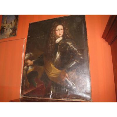 Portrait d'Homme En Armure XVIIIème