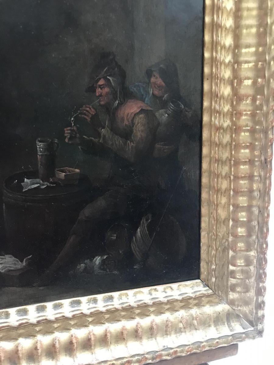 Huile Sur Cuivre Du XVIIIème Siècle