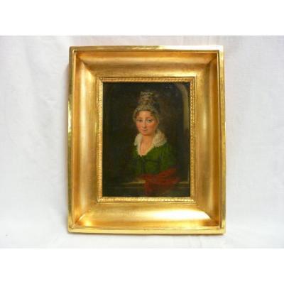 Tableau, Portrait d'une élégante Demoiselle