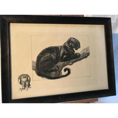 Tableau estampe de Paul JOUVE