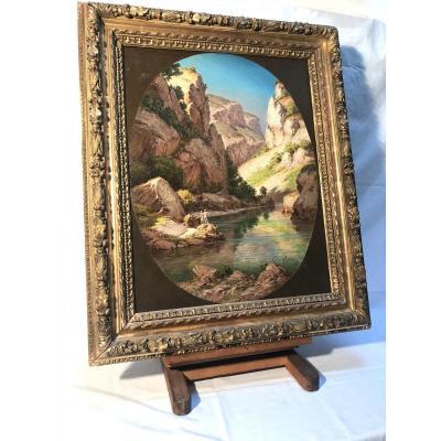Huile Sur Panneau Coulange Lautrec (1824-1898)