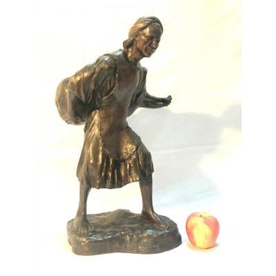 """Bronze """"porteur d'Eau"""" Eugène l'Hoest"""