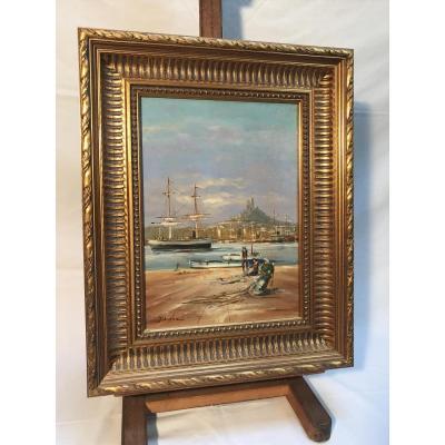 Tableau Port De Marseille, Jean Audier