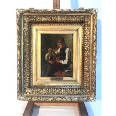 """Tableau de """"Josse IMPENS"""", Portrait du XIXème Siècle"""