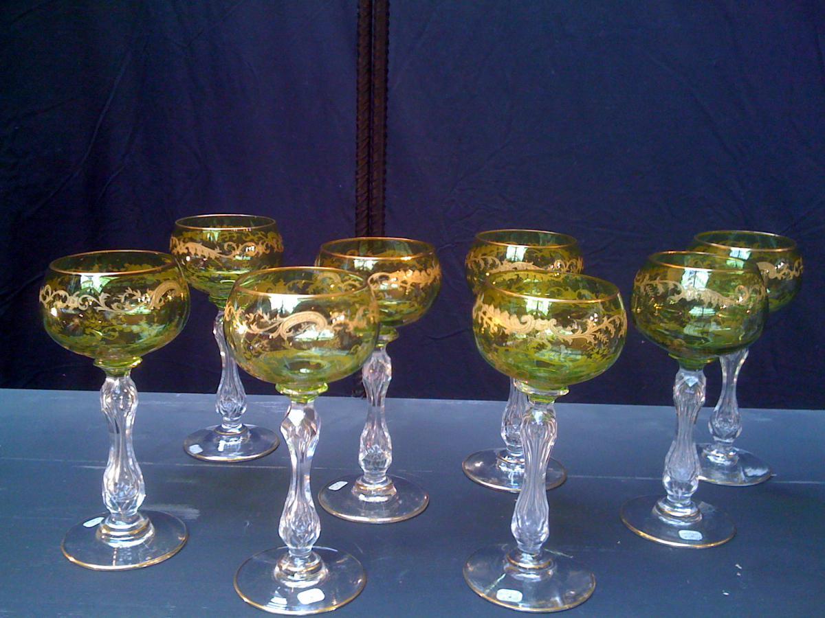 verres vin du rhin verres vin services verres anciens. Black Bedroom Furniture Sets. Home Design Ideas