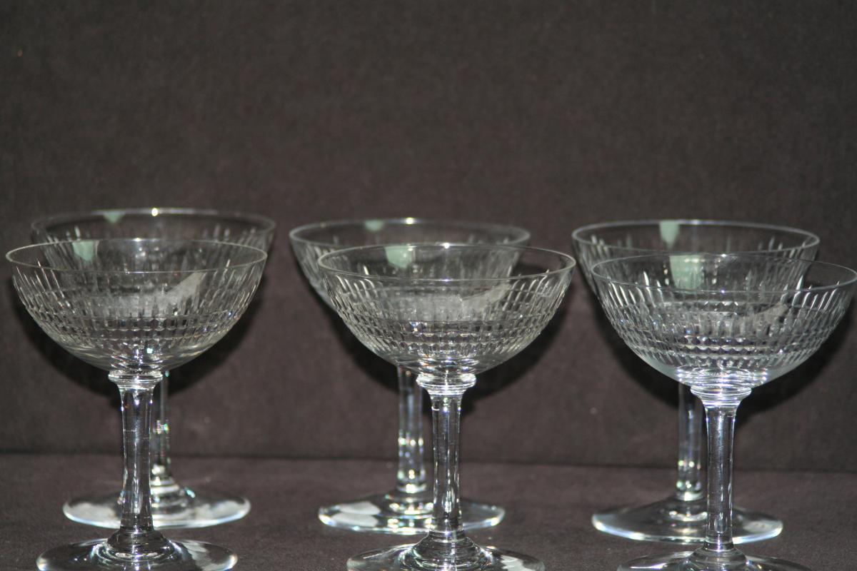 baccarat service nancy coupe champagne verres vin services verres anciens. Black Bedroom Furniture Sets. Home Design Ideas
