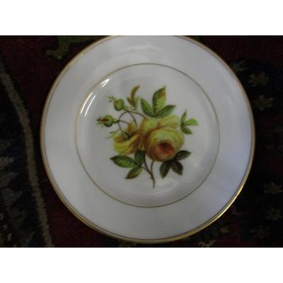 3 Assiettes Porcelaine De Sevres