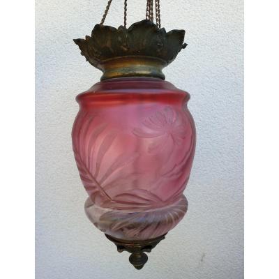 Baccarat  Lanterne  Photophore  Art  Nouveau