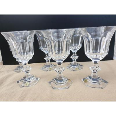 Val Saint Lambert 6 Water Glasses 16.2 Centimeters Metternich 1946