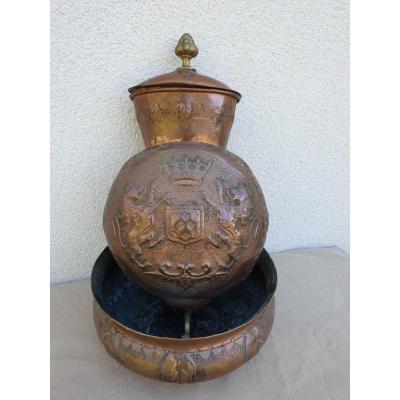 Fountain XVIII Coat Of Arms Lions Fleur De Lys Coat Of Arms