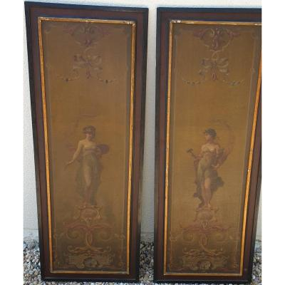 Allegory Painting Allegory Sculpture Pair Of Tables XIX