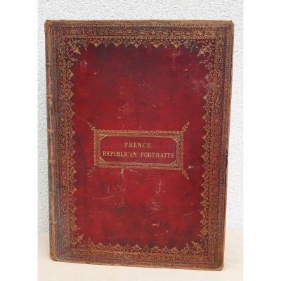 Large Red Moroccan Binding Plate Coat Of Arms William Henry Fortescue 1722 .1806
