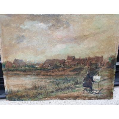 Peintre au Paysage Alfons Rubbens 1929