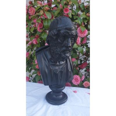 Homère Buste En Bronze début XIX ème Siècle