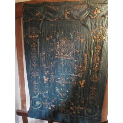 Portière Brodée Epoque Louis XIV.
