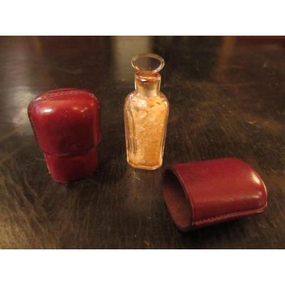 Salty Bottle In Leather Case