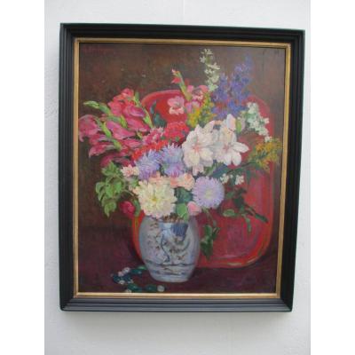 Huile Sur Carton : Bouquet De fleurs