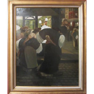 """""""Les blanchisseuses"""" par Armand Joseph Séchet"""