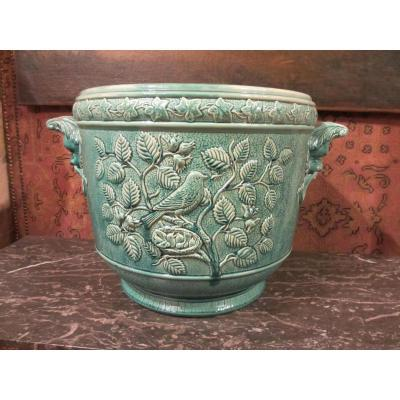 In Faience Cache Pot