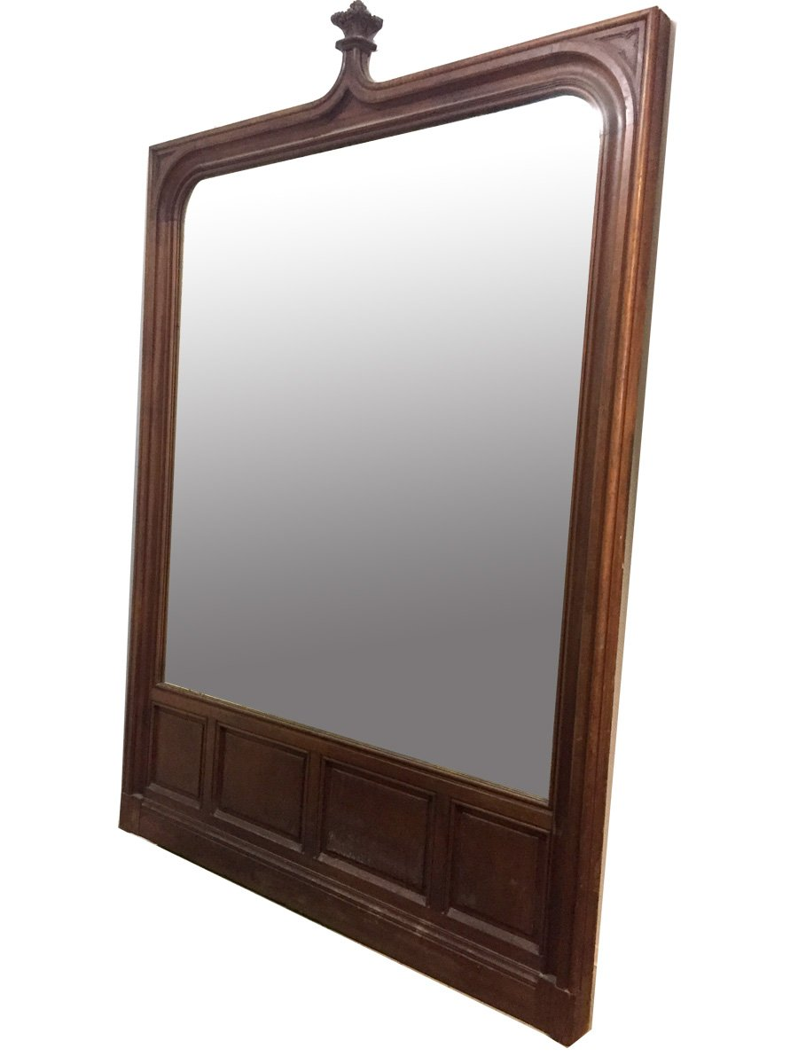 Important Mirror In Natural Wood