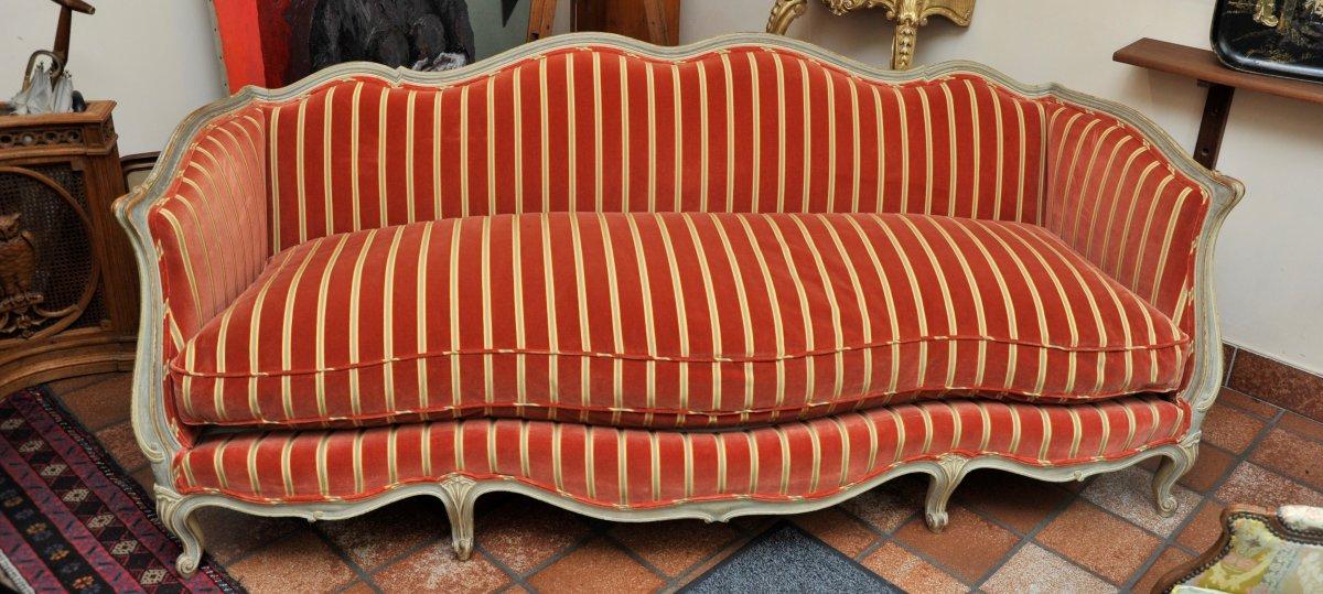 Canapé Banquette Sofa De Style Louis XV