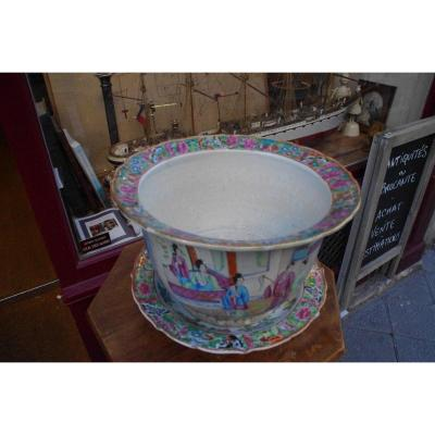 Cache Pot India Company And Its Saucer