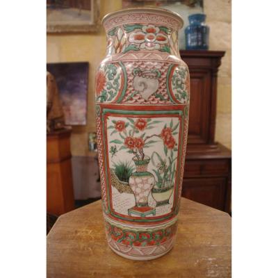 Vase Rouleau En Porcelaine De Chine