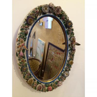 Miroir En Porcelaine De Meissen