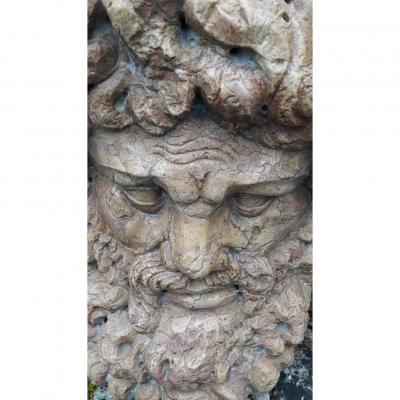 Importante Sculpture Representant Zeus En Marbre Jaune De Sienne