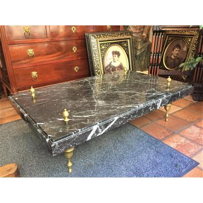 Coffee Table In Marble And Bronze Circa 1960