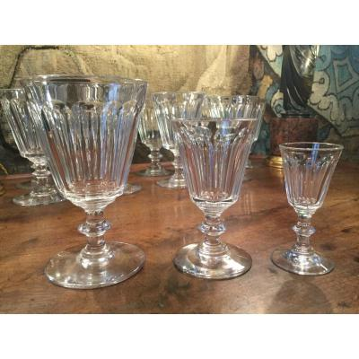 XIXth Century Crystal Glass Service, 32 Pieces
