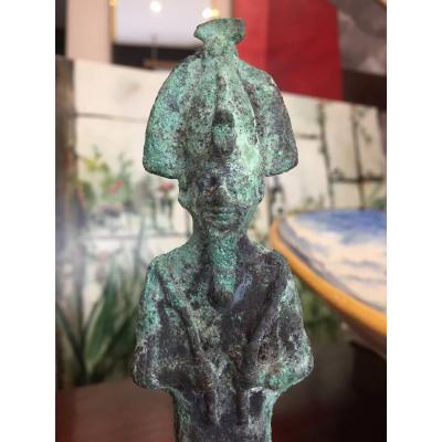 Statuette Votive Du Dieu Osiris