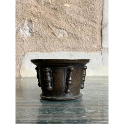 Petit Mortier d'Apothicaire , Bronze , 17 ème Siècle