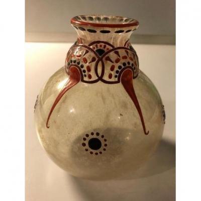 Vase M.goupy  Art Déco émaillé