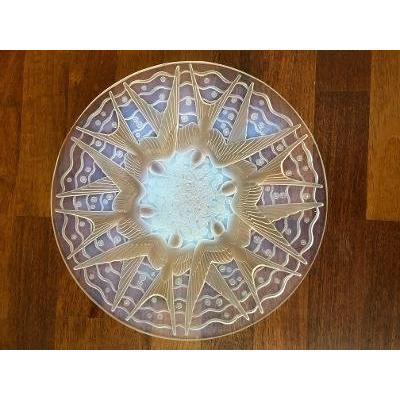 Opalescent Art Deco Dish Signed P.d'avesn Aux Hirondelles