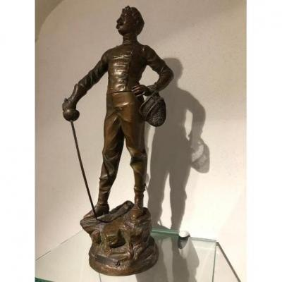 Statue En Régule Représentant Un Escrimeur Par X. Raphanel