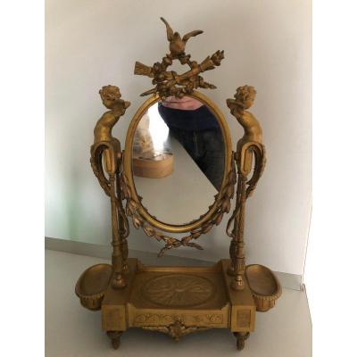 Spyché  époque Napoléon III Bronze Doré