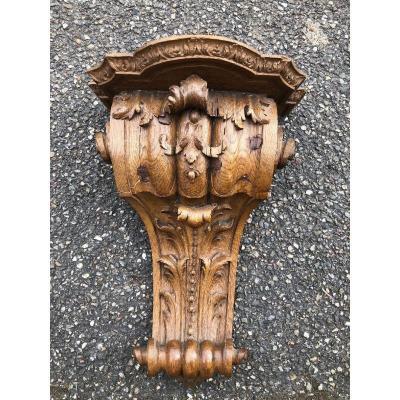 Wall Console XVIII In Carved Oak