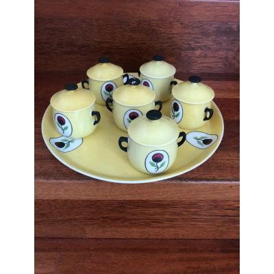 Porcelain Cream Jars Jean Luce Complete